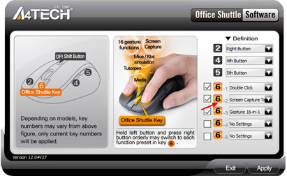 A4tech G11-580FX-1 Office Shuttle Software