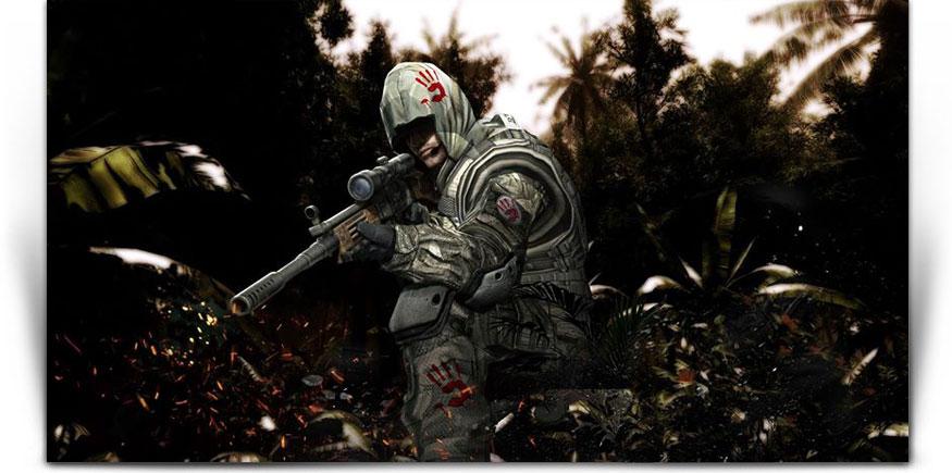 Bloody Category Teaser - момиче войник с кърваво лого