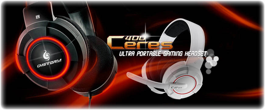 CM Storm Ceres-400 топ слушалки за качествен звук - черни и бели