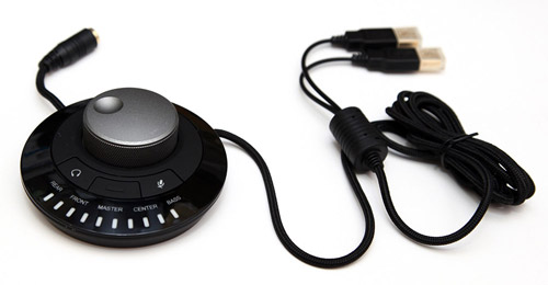 CM Storm Sirus 5.1 конзола - съраунд звук, регулация на звука on-the-fly, USB свърване.