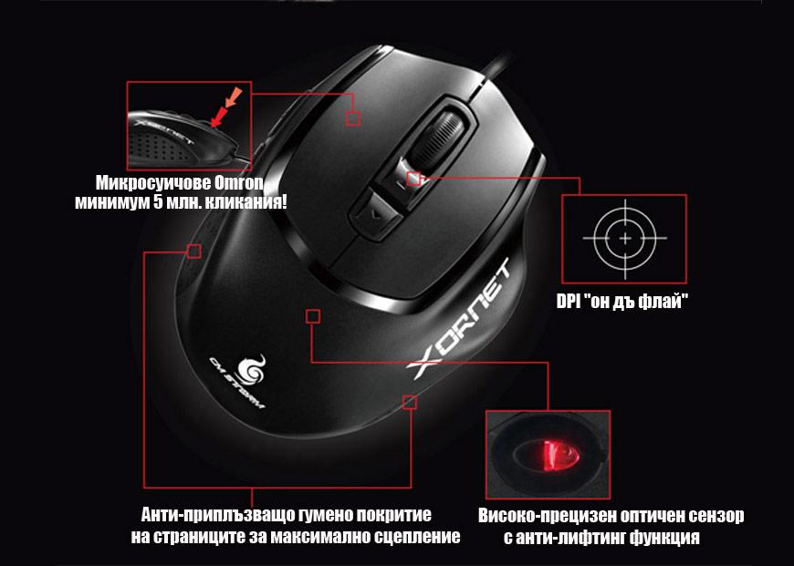 CM Storm Xornet gaming mouse - функции и екстри