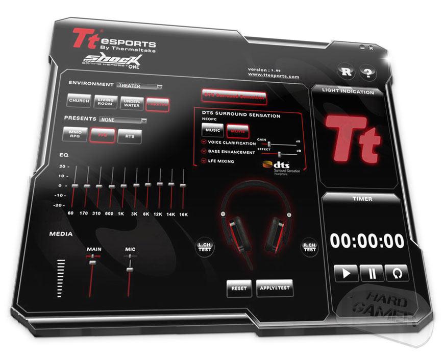 Tt eSPORTS Shock има много интуитивен и изчистен графинен контрол панел