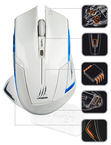 Hama uRage Ice Dragon бяла лазерна геймърска мишка