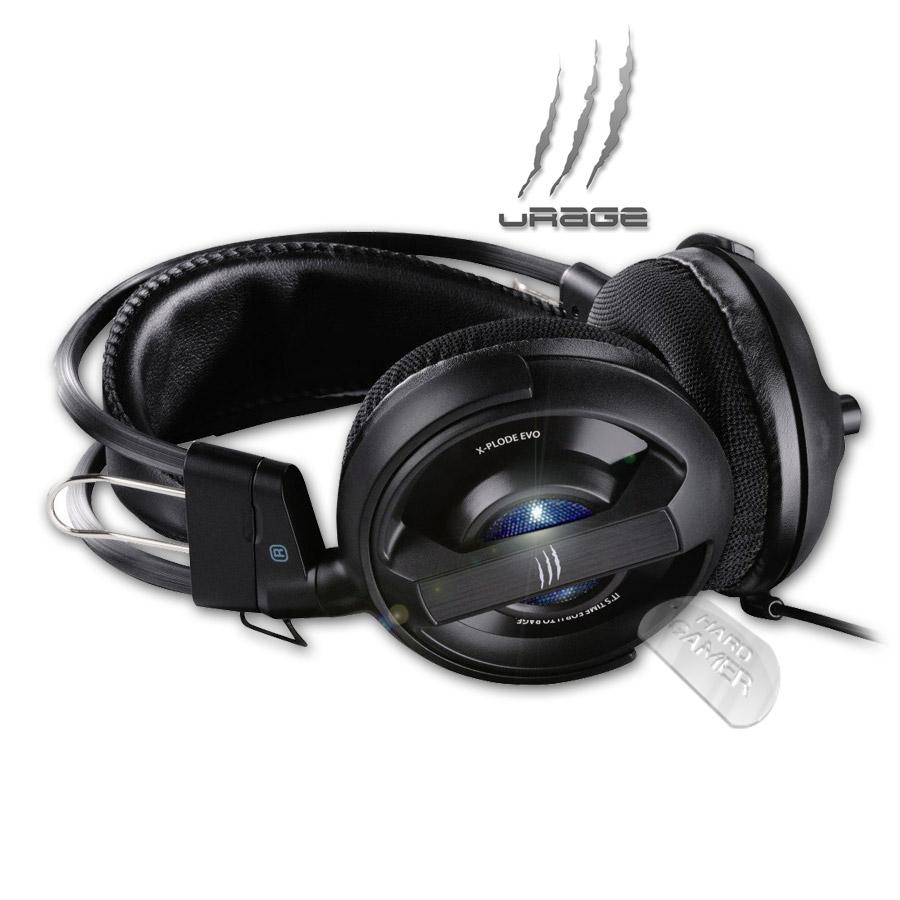 Hama-uRage-xPlode-Evo черни слушалки със диоди