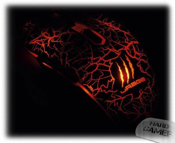 Hama uRage Illuminated геймърска мишка - Лава Оранжево